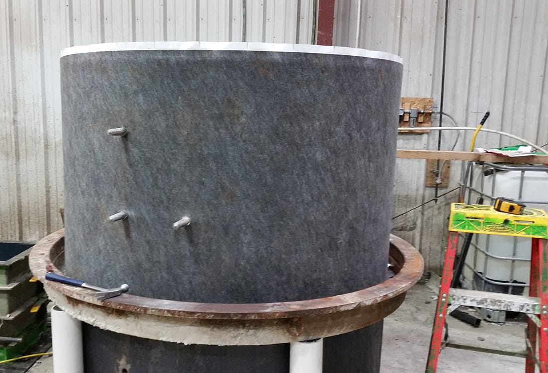 Manhole Coating on Form